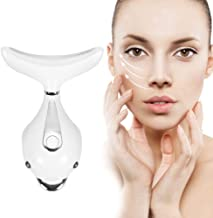 PELCAS Facial Massager Anti Wrinkles Neck Massager, 45℃ ±5℃ Heat High Frequency Vibration Anti Aging Facial Device for Ski...