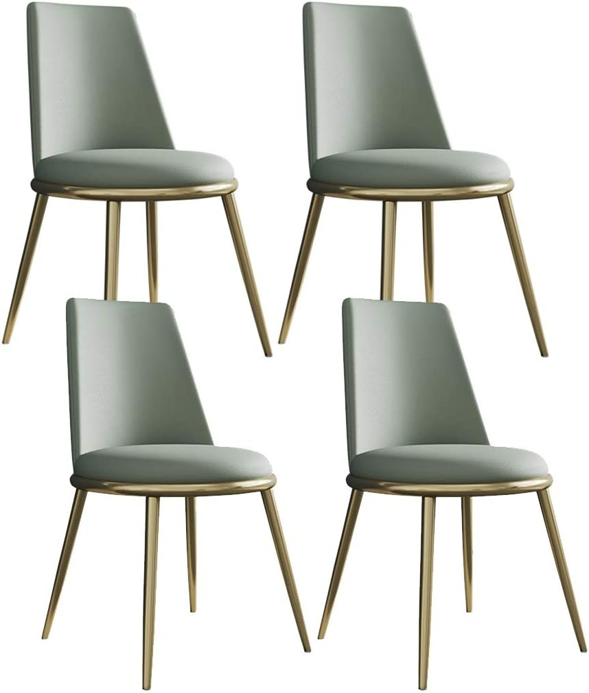SYN-GUGAI Matte Leather Dining Chairs Round New color Ranking TOP10 Upholstere 4 of Set