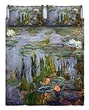 Italian Bed Linen Parure Letto 2 Pst Con Stampa Digitale, Multicolore, 255 X 300 X 1 Cm