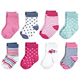 Touched by Nature baby boys Organic Cotton Casual Socks, Garden Floral, 6-12 Months US