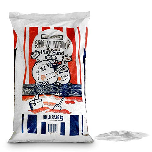 Play Sand Box, Sand Table, Childcare & Daycare Centers, Remove Larger Particles, Beautiful Snow White, 50 Lbs