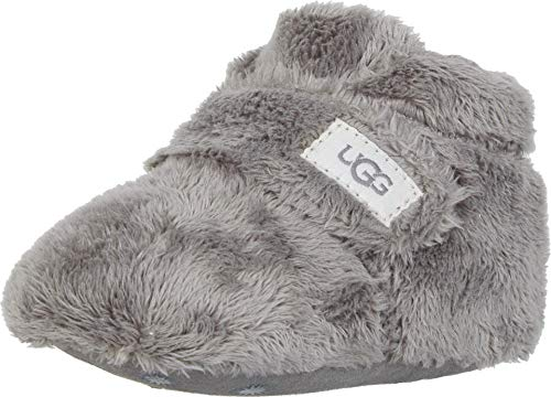 UGG Kids' Bixbee and Lovey Ankle Boot, Charcoal, 0/1