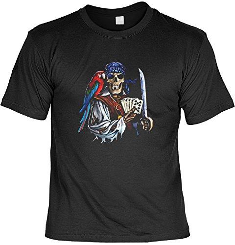 Pirata T-Shirt Dead Man's Hand in nero