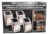 4 Pack LED Outdoor Lights, Solar Motion Sensor Lights Outdoor, Solar Powered LED Accent Lights, Solar Powered Security Lights Waterproof for Front Door Patio Deck Yard Garden Fence Porch