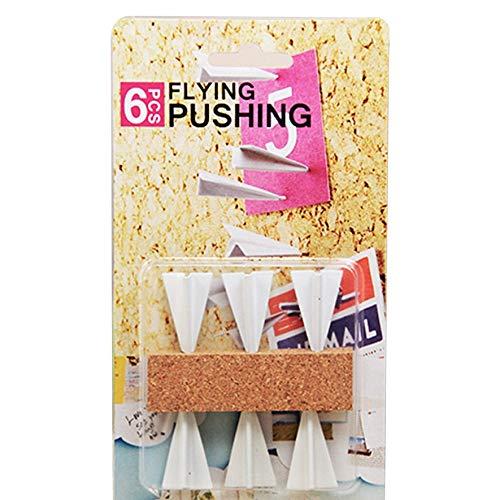 Chinchetas de pared de corcho con forma de avión para chinchetas de tablero de mensajes de oficina Chincheta de avión creativa para el hogar - Blanco 1 tamaño