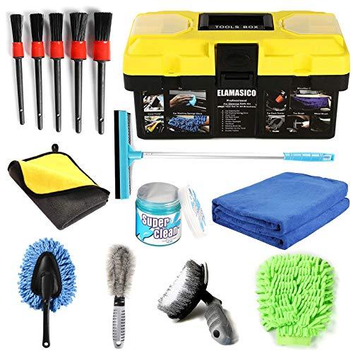 Tasdaker 14 Pcs Car Cleaning Kit,Car Detailing Kit for Window Sponge,Car...