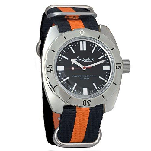 Vostok 150916 Amphibian - Reloj de Pulsera automático para Hombre, con Correa