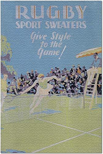 YYTOOF Mode Rugby Sport Sweaters Vintage Poster England (Premium 500 Stück Puzzle für Erwachsene 52*38cm Made in USA!)