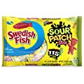 115 Count SOUR PATCH KIDS & SWEDISH FISH Halloween Bulk Candy Trick or Treat Size Variety Pack, Individual Snack Bags