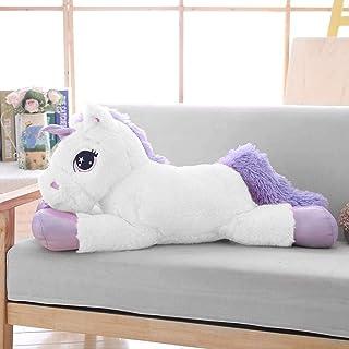 Lanmore Big Unicorn Stuffed Animal Toys Soft Unicorn Plush Pillow for Girls White 24''