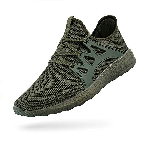 SouthBrothers Green Snekers for Women Lightweight Womens Shoes Sneakers Air Knitted Running Walking Shoes No Lace Gym Sneakers Zapatos de Mujer 6 M US