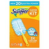 Swiffer Duster Kit Catturapolvere, 1 Manico + 5 Dry Cloths Ricambi