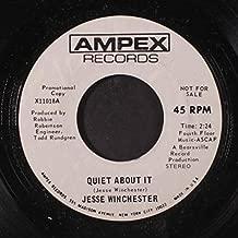 quiet about it / mono 45 rpm single