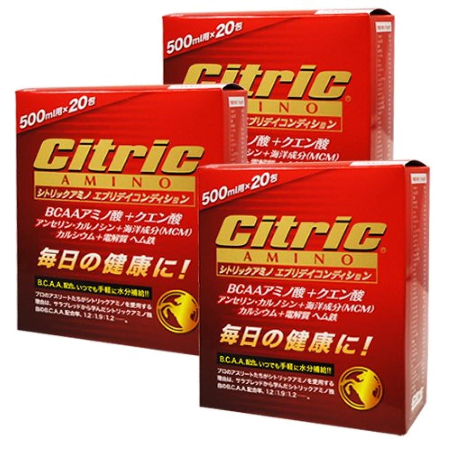 バン音節ご注意シトリックアミノ エブリデイコンディション 120g(6g×20包)×3箱