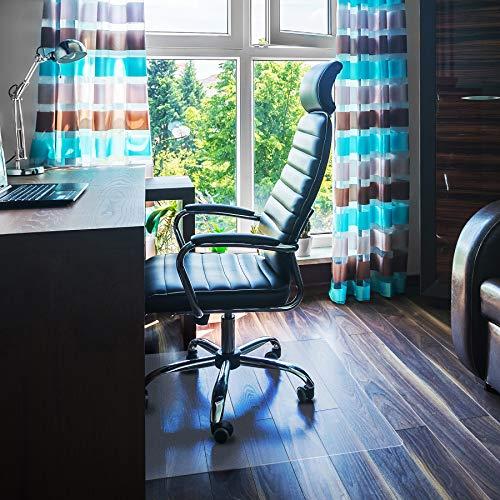 """Floortex FC1212119ER Bodenschutzmatte / Bürostuhlunterlage \""""ultimat\"""", 120 x 120 cm, aus Original-Floortex-Polycarbonat, transparent, quadratisch, TÜV zertifiziert, für harte Böden"""