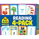 School Zone - Reading Flash Card 4-Pack - Ages 4 and Up, Short and Long Vowel Sounds, Combination Sounds, Rhyming, and More (Flash Card 4-pk)
