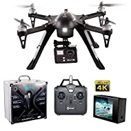 Contixo F17 RC Quadcopter Photography 4K Ultra HD 16MP Drone with Camera for Adult - Brushless Motors - 1 High Capacity Battery - Drone That can Hold a Gopro-Aluminum Hard Case