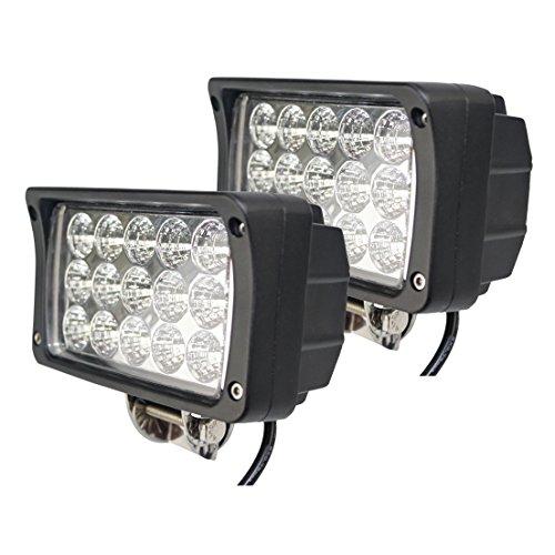 BRIGHTUM LED Arbeitsscheinwerfer weiß12V 24V Reflektor work light Scheinwerfer Arbeitslicht Offroad SUV UTV ATV Arbeitslampe - Traktor - Bagger (45W)