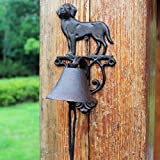 ZHTY Doorbell Front Bell European and American Puppy Country Vintage Cast Iron Wrought Iron Manual doorbell Wall Bell Hand Crank Door Bell Outdoor Courtyard Garden Manual doorbell Doorstop
