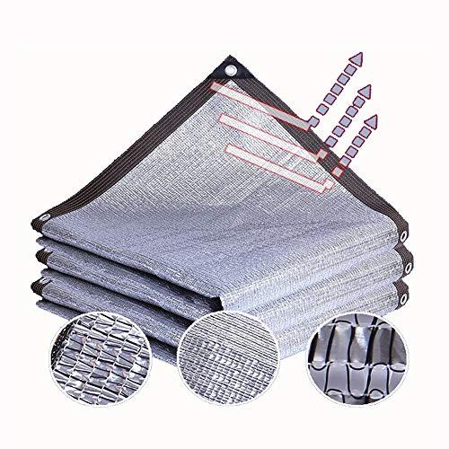 Telas para toldos AGYH Malla De Sombreo, Papel De Aluminio Toldo De Vela Luz Solar Reflecting, Protección UV 99%, Al Aire Libre Protector Solar Aislamiento Pantalla De Privacidad (Size : 2x5m)