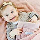 Saranoni Security Blankets for Babies Super Soft Boutique Quality Lush Luxury Baby Blanket (Mini 15' x 20', Ballet Slipper Pink)
