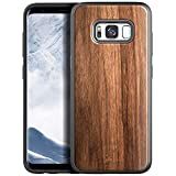 NageBee Case for Samsung Galaxy S8, [Real Natural Walnut Wood], Ultra Slim Protective Bumper Shockproof Phone Case (Every Piece is Unique) -Wood