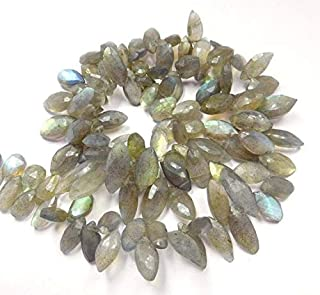 "Jewel Beads Natural Beautiful jewellery 17"" Necklace Labradorite Natural Gemstone 7X13-9X19 Mm Facated Marquise Beads marquise beads,faceted marquise,marquise bead,marquise,beads,Code:- JBB-18690"