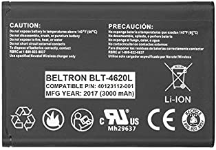 New 3000 mAh Extended Battery for Novatel Jetpack MiFi 4620L / 4620LE Mobile Hotspot - P/N: 40123112-001 (Renewed)