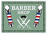 RABEAN Barber Shop Poles Green Póster de Pared Metal Creativo Placa Decorativa Cartel de Chapa Placas Vintage Decoración Pared Arte Muestra para Bar Club Café