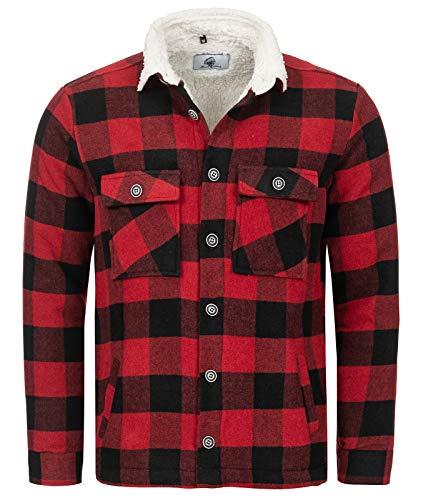Rock Creek H-264 - Chaqueta de invierno para hombre (franela) rojo XXL