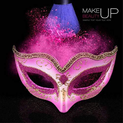 YULEJIA Maskerade Maskers Voor Vrouwen, Venetië Halloween Koppels Party Rose Rode Kinderen Tekenen Half Gezicht Kunststof Masker Carnaval Cosplay Mardi Gras Masker Prom Artiesten Wanddecoratie