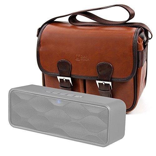 DURAGADGET Bolsa Profesional marrón con Compartimentos para Altavoz Portátil ZoeeTree S1, Zoee...