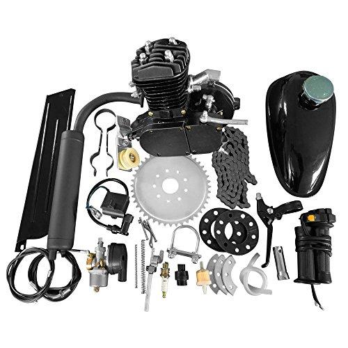 "TRIL GEAR 26"" & 28"" 50CC 2 Stroke Bike Bicycle Petrol Gas Motorized Engine Bike Motor Kit Black"