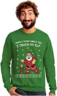 Best I Touch My Elf Ugly Christmas Sweater Sweatshirt Review