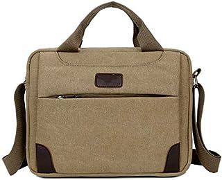 Office Briefcase Shoulder Laptop Business Vintage Slim Shoulder Cross-Body Messenger Bags for Men Women (Color : Beige) Elise (Color : Beige)