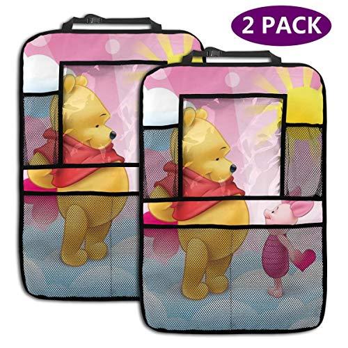 TBLHM Winnie Pooh Sunshine Lot de 2 Sacs de Rangement pour siège arrière de Voiture avec Support pour Tablette