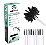 Flexible Dryer Vent Cleaning Kit, Lint Remover, Extends Up to 20 Feet with A Synthetic Brush Head. Can Be Used with Or Without A Drill - MonLo