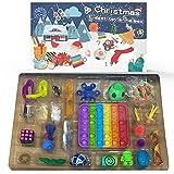 Fidget Sensory Toy Set de juguetes con calendario de Adviento, caja de juguetes antiestrés de Navidad, cuenta regresiva de 24 días, regalo para adultos y niños