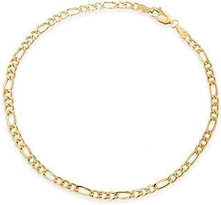 Cha/îne de cheville en or jaune 375//1000 maille corde singapour bracelet de cheville 9 carats