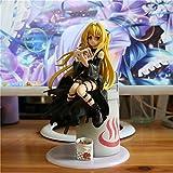 Lupovin 21cm Animado Figura de acción de To Love RU Oscuridad Eva Yami Comer Ver besugo Quemado Negro Vestido de la muñeca de colección Modelo