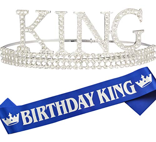 Birthday King Crown and Sash for Men, Birthday Men King Crown Sash for Men, It's My Birthday King Crown Men Kids Boy, Birthday Men Gifts, Male Birthday Crown, Birthday Crown King Birthday Party Decora