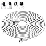 ACAGET 10M Cable de Carga de Enchufe USB a Micro USB para Cámara XIAOMI 2K/Pro,Cables de Extensión de Alimentación para Cámara de Seguridad para Cámara XIAOMI/YI/Cloud,Wyze/Nest/Arlo Q/Furbo Dog Cam