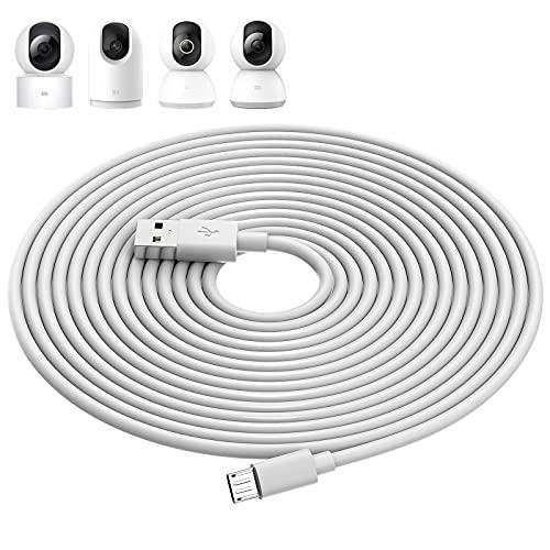 ACAGET 10m Cavo Micro USB per XIAOMI Camera 2K/Pro,XIAOMI Mi 360° Camera (1080p),Cavi di Prolunga di Alimentazione Telecamere di Sicurezza per XIAOMI Mi/YI/Cloud Camera,Wyze/Nest/Arlo Q/Furbo Dog Cam