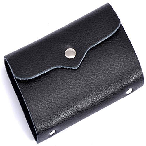 Business Card Book Credit Holder Id Portemonnee Coin portemonnee Voor Mannen En Vrouwen Bank Lederen Card Portemonnee Zwart