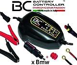BC Battery Controller BC K900 EVO+, Caricabatteria e Mantenitore Intelligente per Moto BMW con sistema CAN-Bus, e per tutte le batterie 12V Piombo-Acido e Litio, 1 Amp