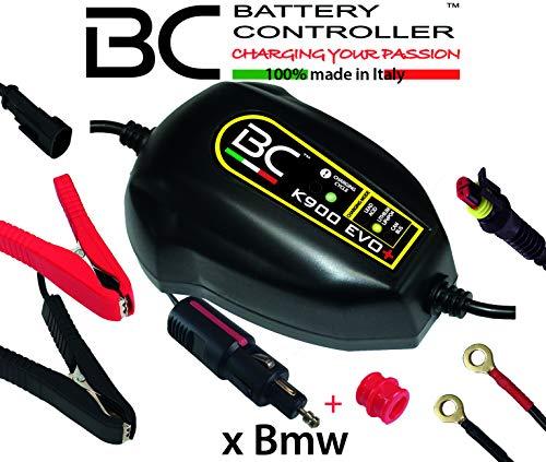 BC Battery Controller BC K900 EVO+, Cargador de baterías y Mantenedor Inteligente para Motos BMW con sistema CAN-Bus, y para todas las baterías de 12V de Plomo-Ácido y de Litio, 1 Amp