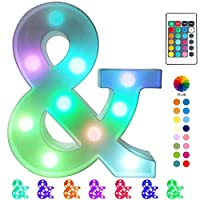 【Colorful Design】 Distinguished from the common warm white version, this upgraded marquee letter light can change 16 colors which provide more options of color choice. Get one to make your celebration more colorful. 【Specification】 Size approx(W x H ...