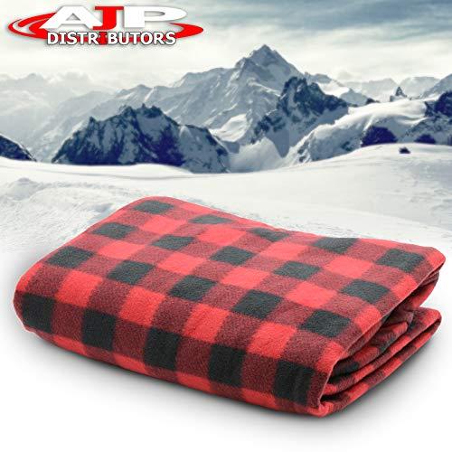 Trillium Worldwide TWI-2001 Car Cozy 2 12V Heated Travel Blanket Red Plaid 58 x 42