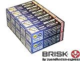 Brisk Silver DR17YS-9 1463 Bougies d'allumage Essence GPL GNV Autogas, 10 pièces