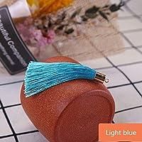 10-50ピースの金属製のキャップタッセルジュエリーのカーテンの衣服装飾的なDIYのキー携帯電話のフリンジトリムタッセルペンダント (Color : Light blue, Size : 30Pcs)